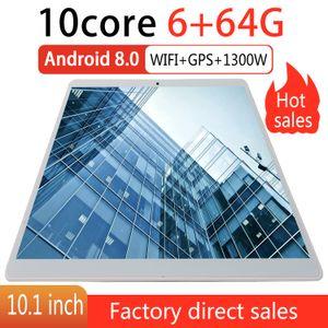2020 Novo Tablet PC de 10,1 polegadas Android 9.0 Tablets 6GB + 64GB Ten Núcleo 3G 4G LTE Phone Call IPS pc Tablet WiFi GPS 10 comprimidos polegadas