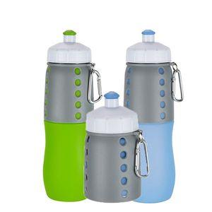 Бутылка воды складной, BPA Free, FDA Approved, качество еды силикон герметичное Портативный Спорт Путешествие для Outdoor, тренажерного зала, Туризм