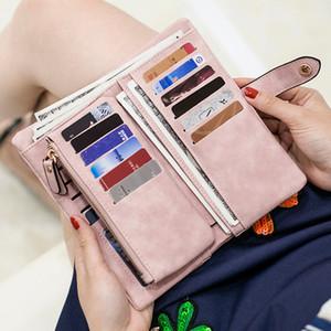 Top Vendita Portafoglio donna Vintage PU in pelle da donna Portafoglio Change Clasp Purse Money Coin Card Holders Portafogli e portamonete donna