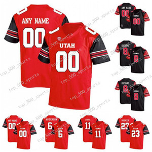 Personalizzato Utah Utes # 1 Tyler Huntley 11 Alex Smith 2 Zack Moss 8 Siaosi Mariner 80 Brant Kuithe Fotheringham NCAA College Football Jerseys