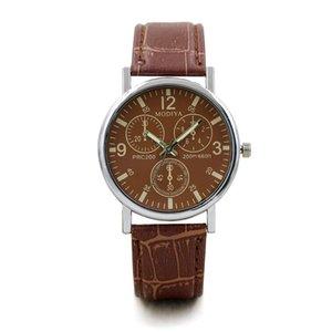 Cool orologi da uomo in finta cinturino in cuoio moda fashion outdoor realisal quarts orologi orologio da polso da uomo blu orologio da polso orologio casual.