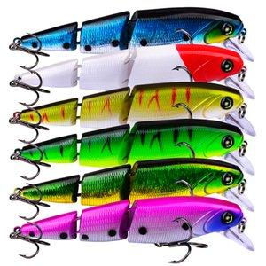 Новые 6 цветов пластиковые 6 3 крючка Минженовый рыболовный приманки 11 3 см 15G много соединенные басовые щуки щуки для рыбалки приманка приманка приманки