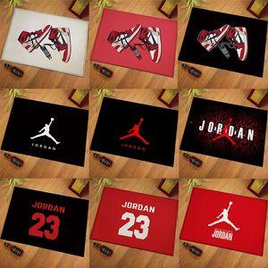 A porta MATS Sports Moda tapetes macios 40 * 60CM estrela de basquetebol Tema Tapetes Sala Mat 10 Styles