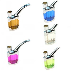 Newest Filter Smoking Cigarette Pipe Acrylic Plastic Water Smoke Bongs Hookah Pipes Of Advertising Promotional Gifts 2 8sb E1