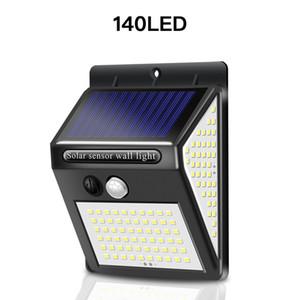 Sıcak satış 140 güneş ışıkları LED 3 mod su geçirmez IP65 LED solar lamba PIR hareket sensörü led bahçe lambası açık kanal duvar lambası