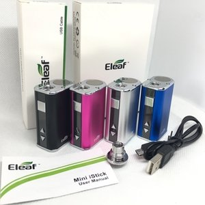Eleaf Mini istick 10w Battery 1050mAh Variable Voltage Battery 4 colors 510 Thread Vape Mod With USB Charger eGo Connector Simple Pack