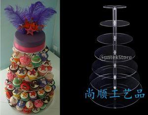 7 tier acrylic crystal wedding cake stand Free Shipping wedding decoration