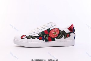 xshfbcl 2020 New Arrival Fashion Men Women Casual Shoes Sneakers Shoes progettista Top Quality luxe Bee Flowers Snake Embroidered