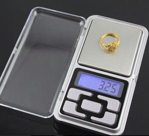 200g x 0.01 g 500g x 0.1g Dijital Perakende Box Mini Hassas Takı Ölçeği Arka Işık Ağırlık Denge Gram Elektronik Cep Ölçeği Scales
