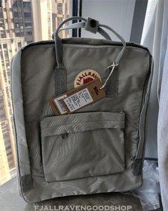 Venta Fjallraven Kanken Esquema de color especial de la correa de cuero unisex mochilas Mochila impermeable al aire libre bolsas de deporte Designer Outlet