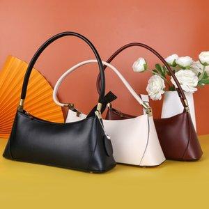 2020 fashion retro leather handbags trend Korean niche cowhide baguette armpit dumplings bag women