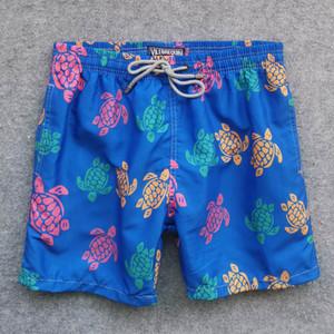 Designer Mens Summer Beach Shorts Board Shorts Sea Turtle Printed Swimwear Quick Dry Beach Pants 6 Colors M-2XL Hot