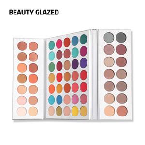 Ready Stock BEAUTY GLAZED 63 Color Eye Shadow Pallete Long Lasting Matte Shimmer Glitter Pigment Easy To Wear Eyes Makeup Charming Palette