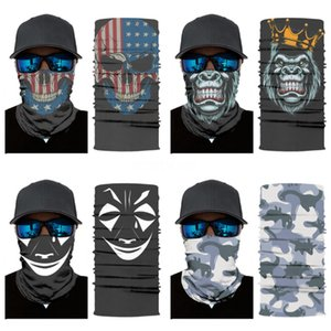 Outdoor Face Mask Caps Bandanas Magic Skull Scarf Elastic Seamless Neck Gaiter Stars Headwrap Neckwarmer Anti-Dust Out345#957