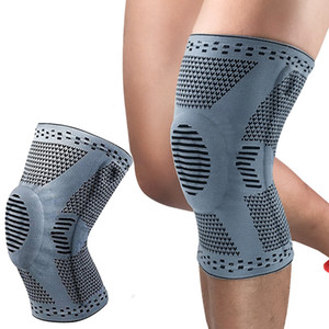 Elastic Knee Patella Protector Brace Silicone Knee Pad Basketball Running Compression Sleeve Support Sports Kneepads