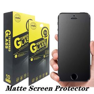 Pantalla de cristal templado mate protector 9H huella digital anti Prueba Anti-añicos película para el iPhone 11 Pro X Xr Xs Max 8 Plus 7 6S