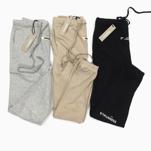 High Quality Reflective Embroidered Letters Sweatpants Hip Hop Justin Bieber Fleece Jogger pants T200706