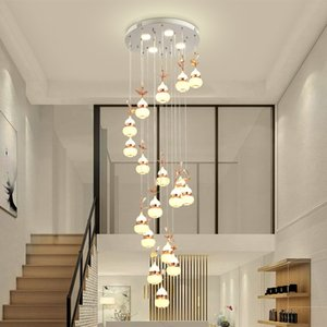 Post Modern Luster Chandelier Brass Minimalist LED Pendant Lamp Indoor
