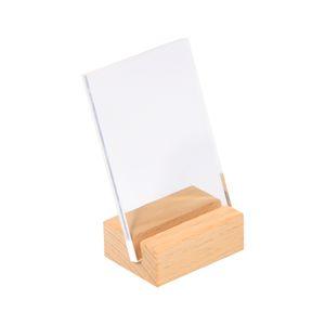 90 * 60mm Hang Schildhalter Rahmen Holztisch Fotostand Name Karte Tag Halter Rahmen Schräge Flugzeug Schreibtisch Zeichen Ständer Display Rack