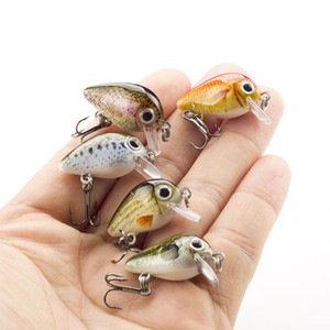 5pcs set Hard Fishing Lure Pesca 3g 18mm Crank Bait Japan Design Mini Crankbaits Artificial Bait For Bass Pike Perch Trout