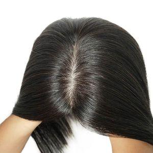 13x15cm cheveux humains Topper pour les femmes 100% Remy Human Slik clip de base dans les cheveux postiche postiche