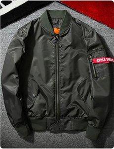 Orak çekiç MA1 bombacısı rüzgarlık Toptan-yizlo ordusu bir ceket erkekler jaqueta masculina ceket