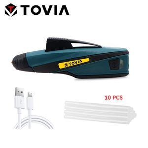 12W Kablosuz Sıcak Tutkal Tabancası Elektrik Tutkal Kalem USB Şarj Sıcak Erimiş Tabancası Hızlı Erime Sticks Mini DIY Tamir Araçları Isıtma