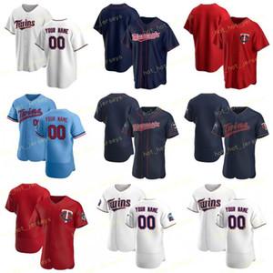 Nombre de encargo 15 Jason Castro 2020 del jersey de béisbol 18 Kenta Maeda 24 Josh Donaldson 13 Ehire Adrianza 18 Mitch Garver 64 Willians Astudillo