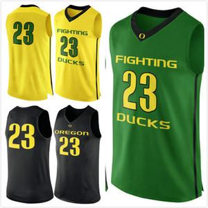 Customized # 23 Oregon Ducks hombre mujer joven camisetas de baloncesto tamaño S-5XL cualquier nombre