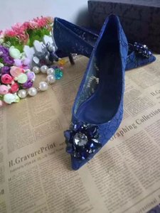 2020 new summer top designer high heels 6.5cm fashion luxury lace hollow real leather dress shoes wedding shoes crystal diamond shoes