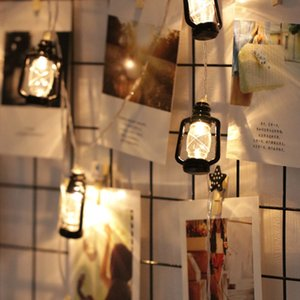 ins Vintage retro Water Oil Lamp Led outdoor garland fairy string Light for Christmas Ramadan Wedding Party Decoration Y200603