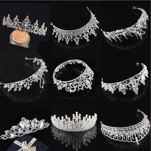 2020 In Stock Free Shipping Rhinestone Crystal Wedding Party Prom Homecoming Crowns Band Princess Bridal Tiaras Hair Accessories Fashion