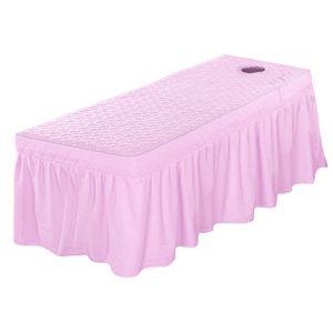High Standard Cotton Spa Massage Tisch Rock Schönheit kosmetisches Bett Valance-Blatt-Abdeckung mit Gesicht Atemloch 73x28inch