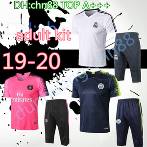 19 psg real madrid Arjantin futbol survetement kısa kollu 3/4 pantolon eşofman eğitim futbol forması kiti chándal seti