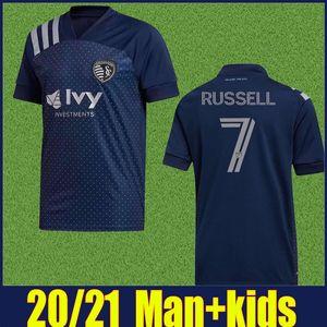 MLS 2020 kit Sporting Kansas City Soccer Jersey PULIDO RUSSELL Football Shirt HURTADO SHELTON Kansas City per bambini enfants più 10pcs DHL