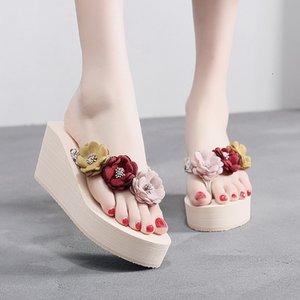 Litthing Тапочки летней женщины флип-флоп с White Diamond Стразы Тапочки Женщины Сандалии Летняя обувь 2020