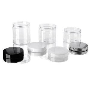 30 40 50 60 80ML بلاستيكية شفافة الجرار علب PET التخزين البلاستيكية صناديق جولة زجاجة مع البلاستيك / الألومنيوم الأغطية XD23026