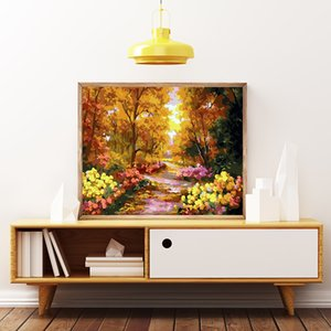 Peyzaj Ev Dekorasyonu Boyama Numara Sahil Feneri Çerçevesiz 50x40cm Akrilik Modüler Dijital Oil tarafından AZQSD Boya