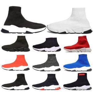 Balenciaga Sock shoes Luxury Brand maille treinador de velocidade de estiramento preto Tan homens velocidade mid-top treinador meias tênis Sapatos Casuais Corredores sapatos 36-47