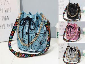 Hot Style 2020 High Quality Women Leather Shoulder Bag Famous Brand Designer Chian Crosbody Bags For Women Single Bag Popular Geometric#105