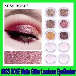 .MISS ROSE 11 ألوان ماكياج العيون لامع بريق الماس مضيئة ظلال وميض العين التمهيدي مضيئة ظلال العيون النساء هدية شركة دي إتش إل الشحن المجاني