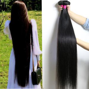 28 30 32 34 36 40 Zoll unverarbeitetes brasilianisches reines Haar gerade gebündelt 10-26 Zoll Körper tief Wasser Welle verworrene lockige Haarverlängerungen