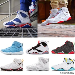 2018 7 7s mens basketball shoes Women Purple UNC Bordeaux Olympic Panton Pure Money Nothing Raptor N7 Zapatos Trainer Sports Sneakers Shoes