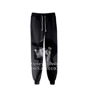 Spring Teenager School Sports Casual R.I.P Pencil Pants Printed Designer Mens 3D nipsey hussle Jogger Pants