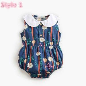 New Summer Baby Girls Romper Toddler Sleeveless Flower Printed Onesie Fashion Newborn Girls Jumpsuit