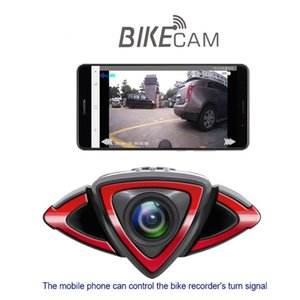 Bicycle Recorder Motorcycle Driving Recorder BikeTurn Signal Warning Light Wifi Phone Connection Gps Track Bike Accessories