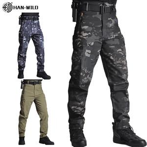 Hommes Sharkskin Pantalon tactique Cargo Combat SWAT Armée de terre Pantalons militaires Airsoft Cargo Pantalons Randonnée Chasse Pantalons