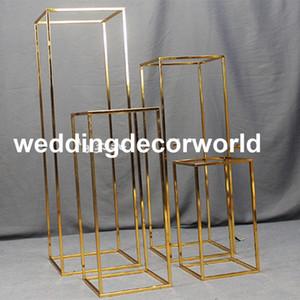 Dernières (pas de fleurs, y compris) présentoir à fleurs en plaqué or décoration de mariage stand de fleurs decor0576