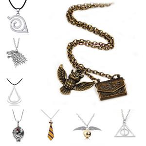 Harry tempo turner jóias colar Naruto Lobo ouro Owl Colar Laço de jóias mulheres de designer mens moda