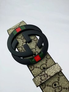 Hot sale luxury designer belt men's belt luxury belt top fashion casual business leather big gold buckle 012